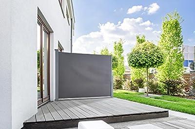 Seitenmarkise START Sichtschutz Sonnenschutz in verschiedenen Größen anthrazit oder cremeweiß von empasa bei Gartenmöbel von Du und Dein Garten