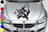 wDesigns Autoaufkleber Wolf WÖLFE Aufkleber Motorhaube Sticker Heckscheibe BMW Audi