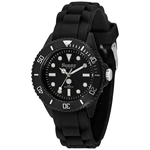 Silikon Armbanduhr klassisch Schwarz und Klein - Sunny Watch
