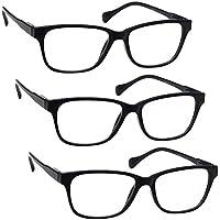 53e3dfa6a3 UV Reader Negro Ligero Gafas De Lectura Valor Pack 3 Estilo Diseñador  Hombres Mujeres Inc Caso