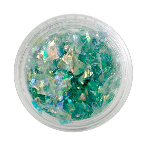 maDDma  1 Döschen, 3cm DIY Glitter Glitzer Splitter Fragmente Kunststoff Streu, Farbwahl, Farbe:dunkelgrün -