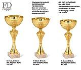 FDCOPPE Pokal Trophäe mit Obere Tasse aus Metall, Selbstklebende personalisierbar–Farbe Silber/Gold–Trio Cups 1° 2° 3° kategorisiert