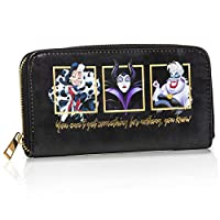 Disney Villains Ladies Purse | Disney Wallet Featuring Maleficent And Cruella Deville | Disney Villains Gifts For Girls, Teens, Women | Purses for Women