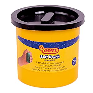Jovi - Soft Dough Blandiver, Estuche de 5 Botes, 110 g, Color Negro (45010)