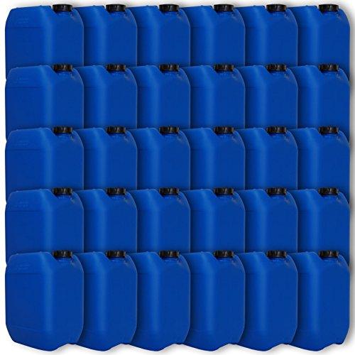 Wilai GmbH Lot de 30 bidons - Jerrican 10 L Bleu HDPE Ouverture DIN 51 qualité Alimentaire (30x22041)