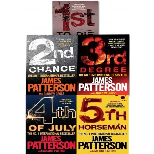 James Patterson Women's Murder Club Series Collection 5 Books Set Pack
