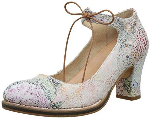 Neosens S278 Fantasy Floral White Baladi, Chaussures à Talon avec Bout Fermé Femme Multicolore (Floral White)