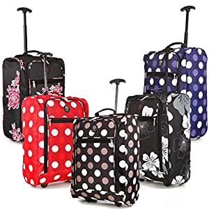 38L Cabin Hand Luggage Trolley Bag Travel Flight Suitcase Retractable Pull Handle Small 2 Wheeled Holdall by ASAB