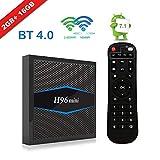 YsinoBear [H96 Mini Android 7.1 TV Box Android TV Box 2G 16G Amlogic CPU Soporte 2.4G / 5G Dual WiFi / 100M LAN/BT 4.0 / 3D / H265 4K Smart TV Box