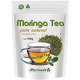 Moringa Tee 100g Blattmischung geschnitten (rein natürlich). Garantierte Qualität und bester Geschmack von MoriVeda (1x100g)