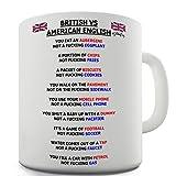Twisted Envy British vs American English Grammar Ceramic Funny Mug