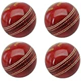 Genuine Tima Leather Cricket Ball Standard International Size Set Of 4 By R.P.M Sports