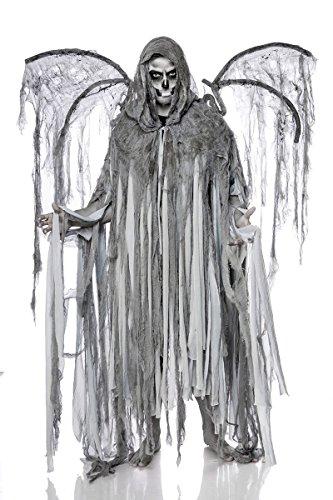 Horror Halloween Halloweenkostüm Herren Engel Tod Skelett Skelettkostüm Geist Geisterkostüm Todkostüm - Metall Flügel Kostüm