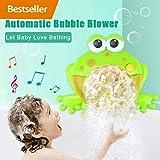 Seifenblasen Maschine, Badewannen / Garten Spielzeug Kinder Bubble Machine, Frosch Krabbe Krake Automatisiertes Auslauf Bad Bubble Spielzeuggeschenk mit Musik Lied für Kinder Geschenk (C)