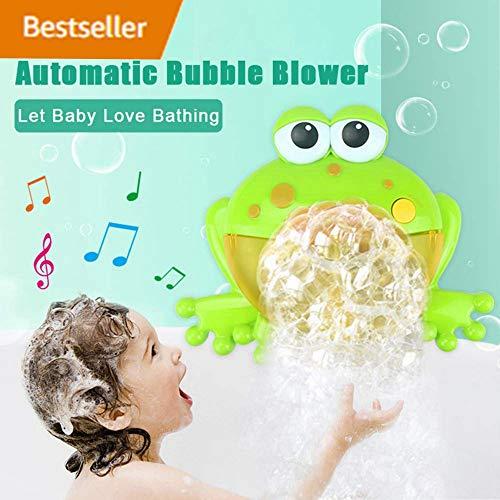 (Seifenblasen Maschine, Badewannen / Garten Spielzeug Kinder Bubble Machine, Frosch Krabbe Krake Automatisiertes Auslauf Bad Bubble Spielzeuggeschenk mit Musik Lied für Kinder Geschenk (C))