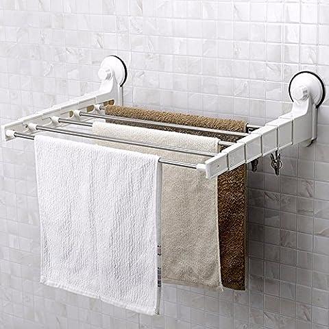 KHSKXPotente pule colgando del bastidor telescópico multi-propósito toallero toallero estante rack tendedero de ropa