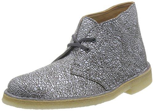 Clarks Originals Boot, Stivali Desert Boots Donna, Multicolore (White/Grey), 37.5 EU