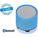 Azacus Wireless Bluetooth Speaker, Portable Bluetooth Speaker With Smart Touch LED Mood Lamp, With SD Card Slot/AUX Input, With Microphone To Connect Calls.Compatible With All Bluetooth Devices (One Year Product Replacement Warranty)