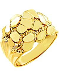 Little Treasures - 14ct Mens Solid Gold Nugget Ring