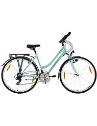 KS Cycling Trekkingrad Damen Vegas Multipositionslenker RH 48 cm Fahrrad, Mint, 28