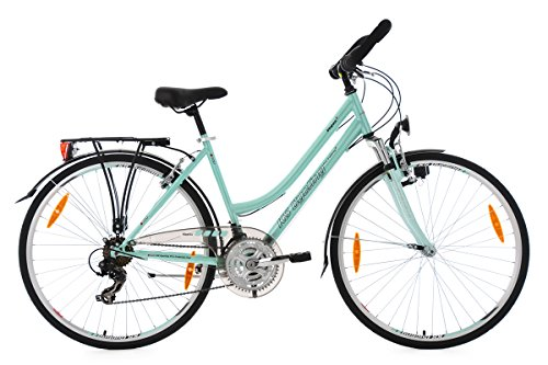 KS Cycling Damen Trekkingrad Vegas Multipositionslenker RH 48 cm Fahrrad, Mint, 28
