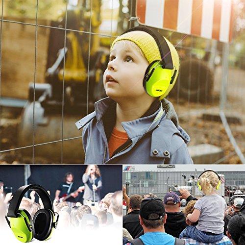 246714c7fd48c Mpow Casque Anti-Bruit Enfant Adulte Pliable Réglable avec Sac Transport