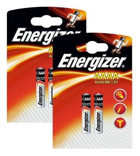 Energizer Original Batterie Ultra Plus Piccolo E96 AAAA (1,5 Volt, 2x 2-er Pack) -