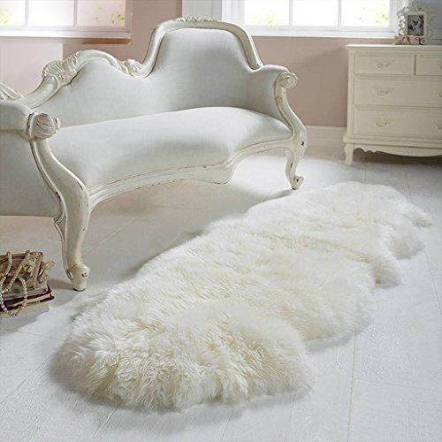 ZHEN GUO Echtes Schaffell Teppich mit extra dicken Wolle Teppich Naturweiß weiches Kissen für Sofa Stühle Betten (größe : 70*210cm) (Lammfell-schokolade)