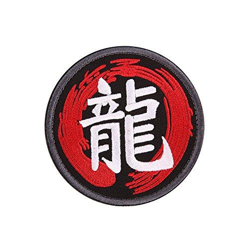 Rosepoem Multi-Typen 3D Chinesische Charaktere Stickarm Flecken-Abzeichen Armee Moral Armband Runde Stilvolle 7.5cm 7.5cm (Steelers Patch)