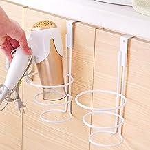 La puerta del baño secador de pelo Plancha back rack de almacenamiento baño secador rack rack racks puerta de armario secador de pelo