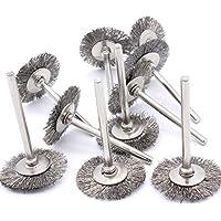 Entfernen von Rost und Oxidation reinigen und polieren Fl/äche Edelstahl Drahtb/ürste mit 3mm Schaftdurchmesser f/ür Drehwerkzeugmaschinen 38mm