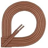 Di Ficchiano Lacets ciré ronds premium Ø 2–3mm, longueur 45–120cm, indéchirable 75 cm marron clair