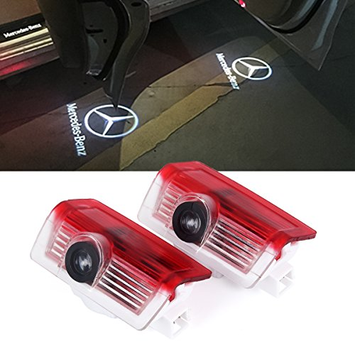 2 x LED Einstiegsbeleuchtung Tür Licht Logo Projektor Licht Logo Leuchten (Für Benz Logo)