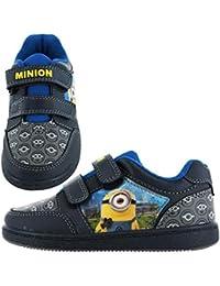 Minions Axel Kids Velcro Plimsoll Entrenadores, color Negro, talla 27 EU Niño