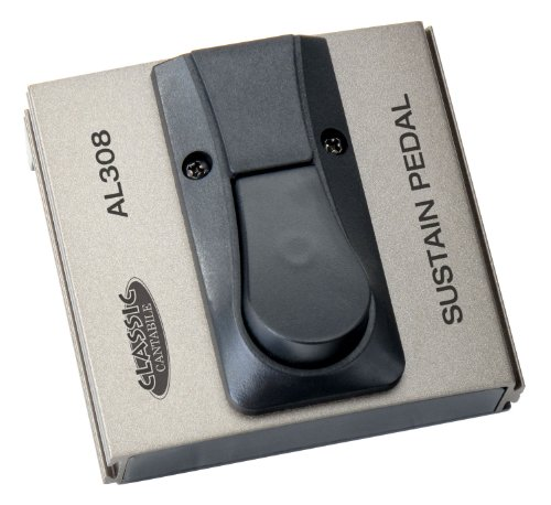 Classic Cantabile AL-308 Fußschalter (Verstärker Umschalter, Fußtaster, Sustain/Drive Pedal, Umschalter Polarität, Klinke mono Anschluss,  94 x 88 x 50 mm) Pedal-anschluss
