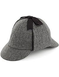Chapeau Sherlock Holmes à chevrons gris JAXON & JAMES