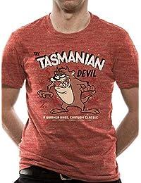 0f8c99e9e195d2 Looney Tunes Official Men's Tazmanian Devil Retro Design T-Shirt - Crew Neck