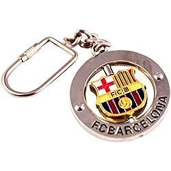 Llavero FC Barcelona escudo giratorio