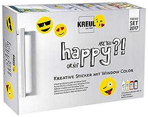 KREUL 42852Happy Set-creativos Pegatina con Window Color