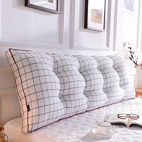 Preisvergleich Produktbild QWERTYUI Bett Baumwolle Lesen kopfkissen, Schlafzimmer Sitzkissen Doppelzimmer Lange Kissen Herausnehmbaren Tatami-matten Dreieckiger keil-F 200x20x50cm(79x8x20inch)