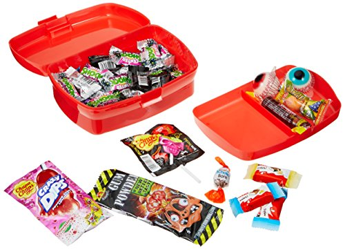 CAPTAIN PACK Halloween Horror Treasure Box mit Süßigkeiten (41-teilig), 1er Pack (1 x 263 g)