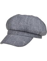 Lerben Niñas Suave de la mujer Classic Plaid Visera mezcla de lana Beret Cap Newsboy Gorro Cálido soporte de tapas
