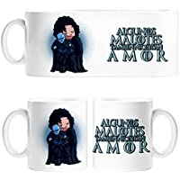 Taza Juego de Tronos Jon Snow y Caminante Blanco algunos malotes también necesitan amor - Cerámica