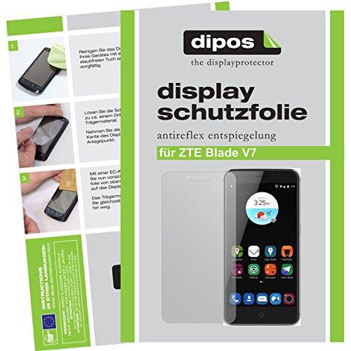 dipos I 2X Schutzfolie matt passend für ZTE Blade V7 Folie Displayschutzfolie