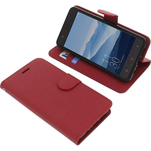 foto-kontor Tasche für Elephone P8 Mini Book Style rot Schutz Hülle Buch