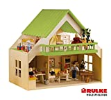 Rülke Holzspielzeug 23195 Haus mit Balkon, grün