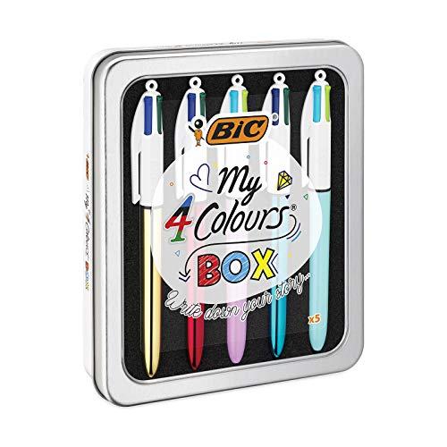 BIC Shine Y Pastel - Pack de 5 bolígrafos