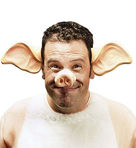Preisvergleich Produktbild Karneval-Fasching-Shop Schwein Sau Schweineohren Schweinenase im Set
