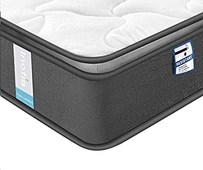 Inofia Highly-Breathable Memory Foam Pocketed Spring Mattress Pressure Relief with Zoned Support (100 Nights Trial)
