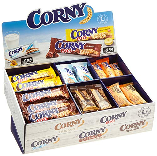 Corny Thekendisplay, verschiedene Sorten, 69 Einzelriegel, 1er Pack (1 x 2825 g)